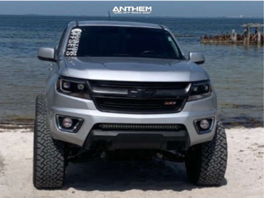 4 2020 Colorado Chevrolet Rough Country Suspension Lift 6in Anthem Off Road Avenger Machined Accents