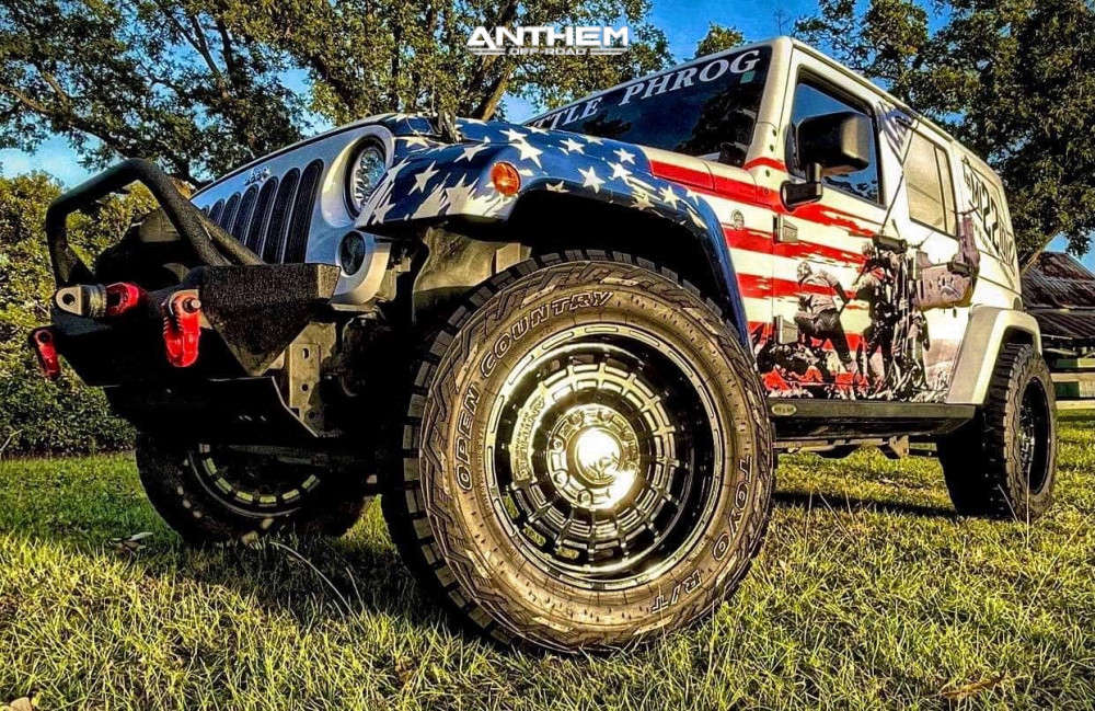 1 2016 Wrangler Jk Jeep Base Rubicon Express Super Flex Suspension Lift 25in Anthem Off Road Viper Black