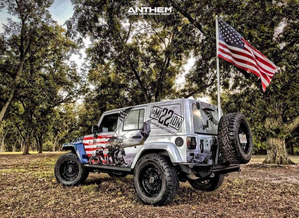 4 2016 Wrangler Jk Jeep Base Rubicon Express Super Flex Suspension Lift 25in Anthem Off Road Viper Black