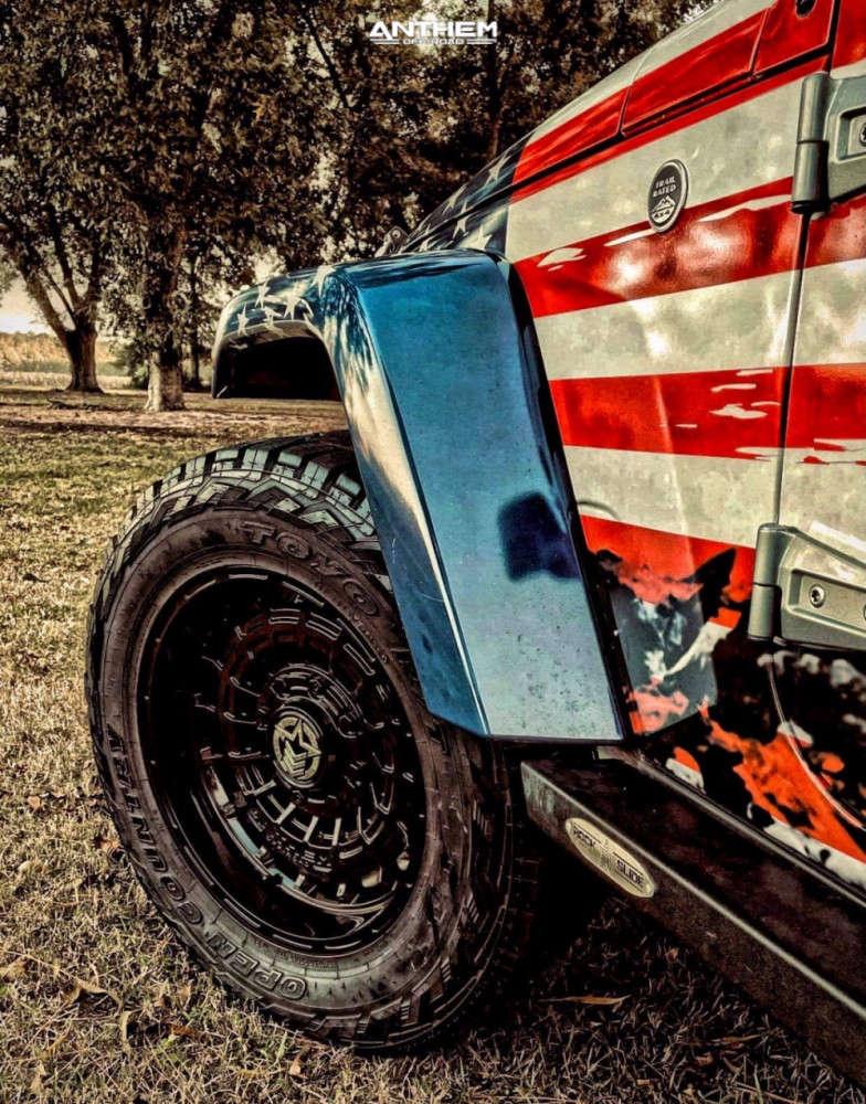 8 2016 Wrangler Jk Jeep Base Rubicon Express Super Flex Suspension Lift 25in Anthem Off Road Viper Black