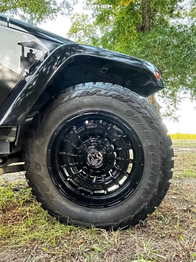 9 2016 Wrangler Jk Jeep Base Rubicon Express Super Flex Suspension Lift 25in Anthem Off Road Viper Black