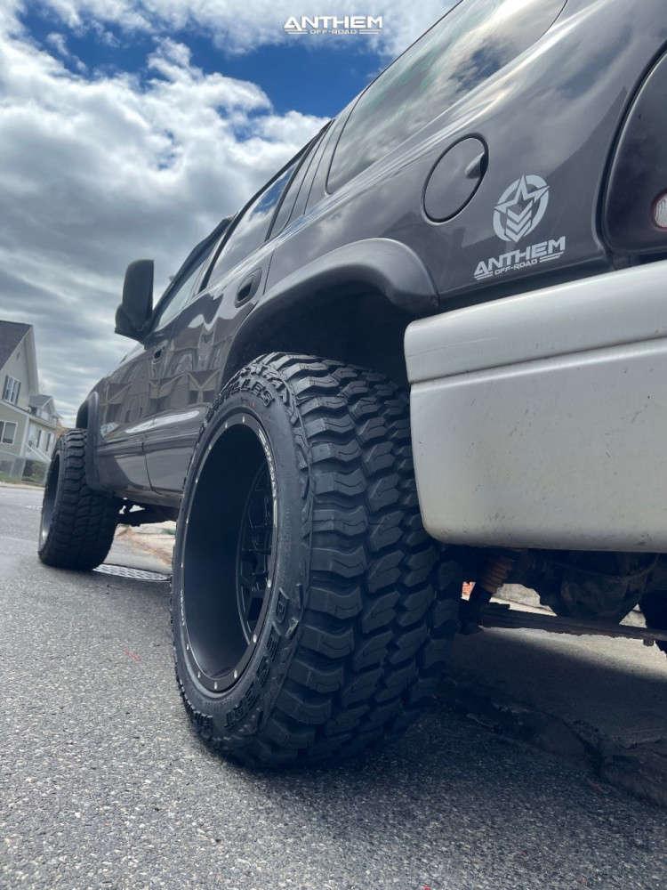 10 2002 Durango Dodge Supreme Suspension Lift 3in Anthem Off Road Avenger Black