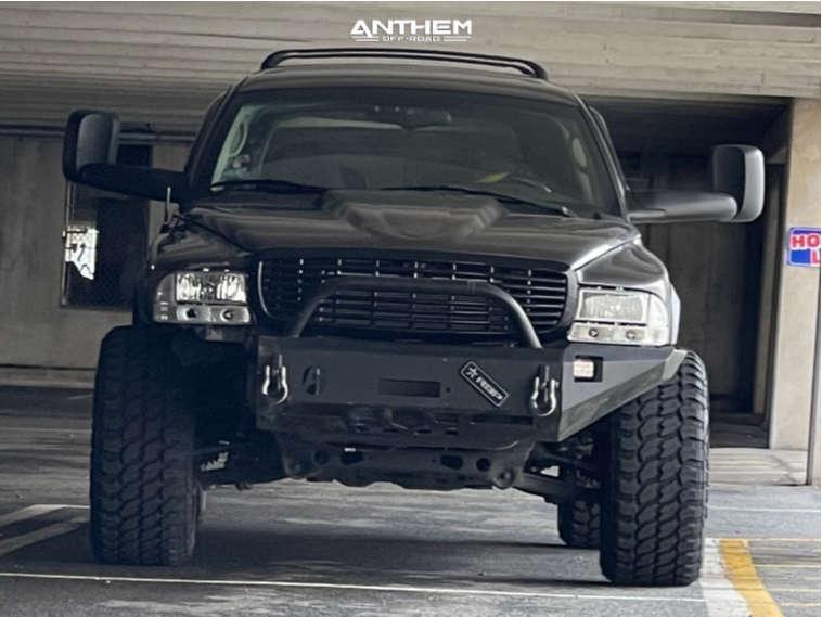 2 2002 Durango Dodge Supreme Suspension Lift 3in Anthem Off Road Avenger Black
