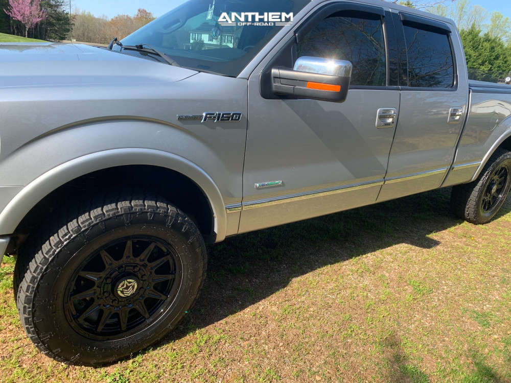 8 2012 F 150 Ford Rancho Leveling Kit Anthem Off Road Liberty Black