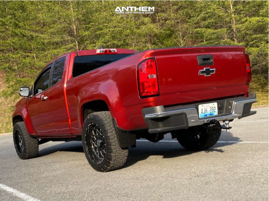 3 2015 Colorado Chevrolet Rough Country Leveling Kit Anthem Off Road Avenger Machined Black