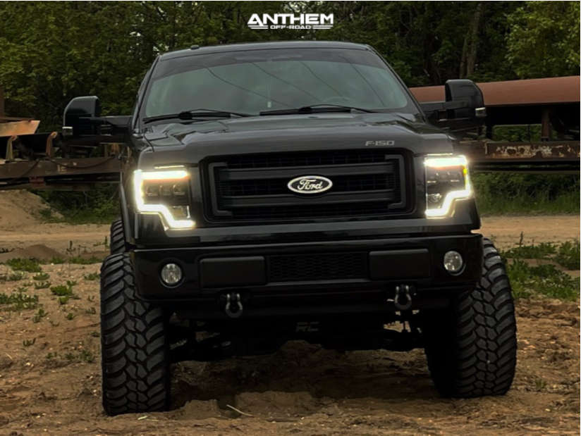 12 2014 F 150 Ford Rough Country Suspension Lift 95in Anthem Off Road Equalizer Black