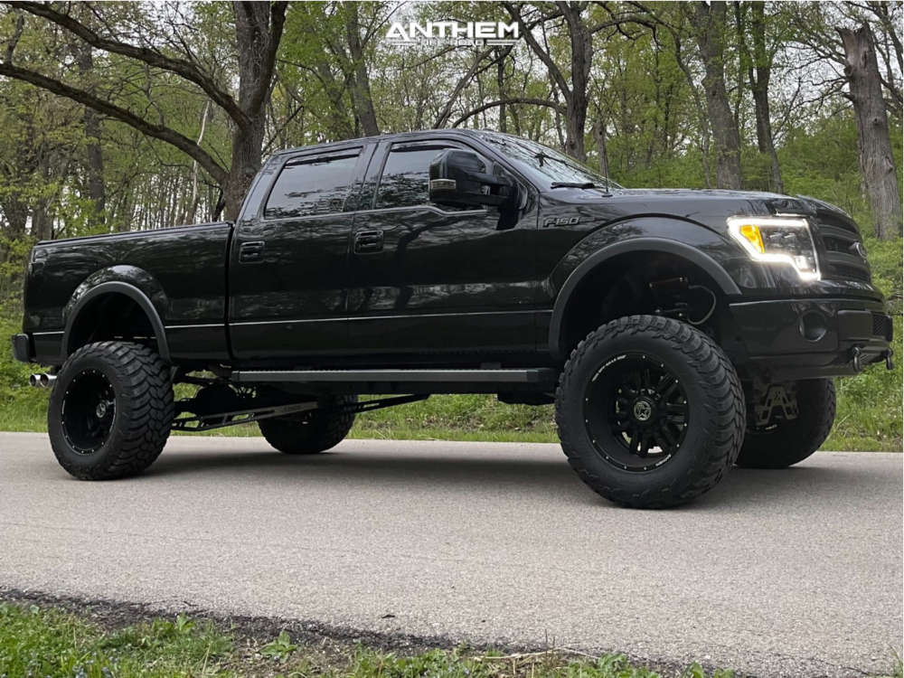 16 2014 F 150 Ford Rough Country Suspension Lift 95in Anthem Off Road Equalizer Black