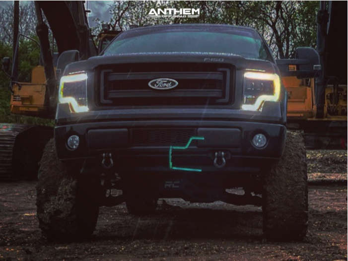 6 2014 F 150 Ford Rough Country Suspension Lift 95in Anthem Off Road Equalizer Black