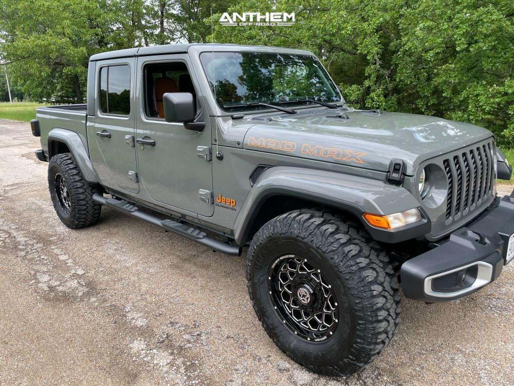 1 2021 Gladiator Jeep Sport Stock Air Suspension Anthem Off Road Avenger Machined Black