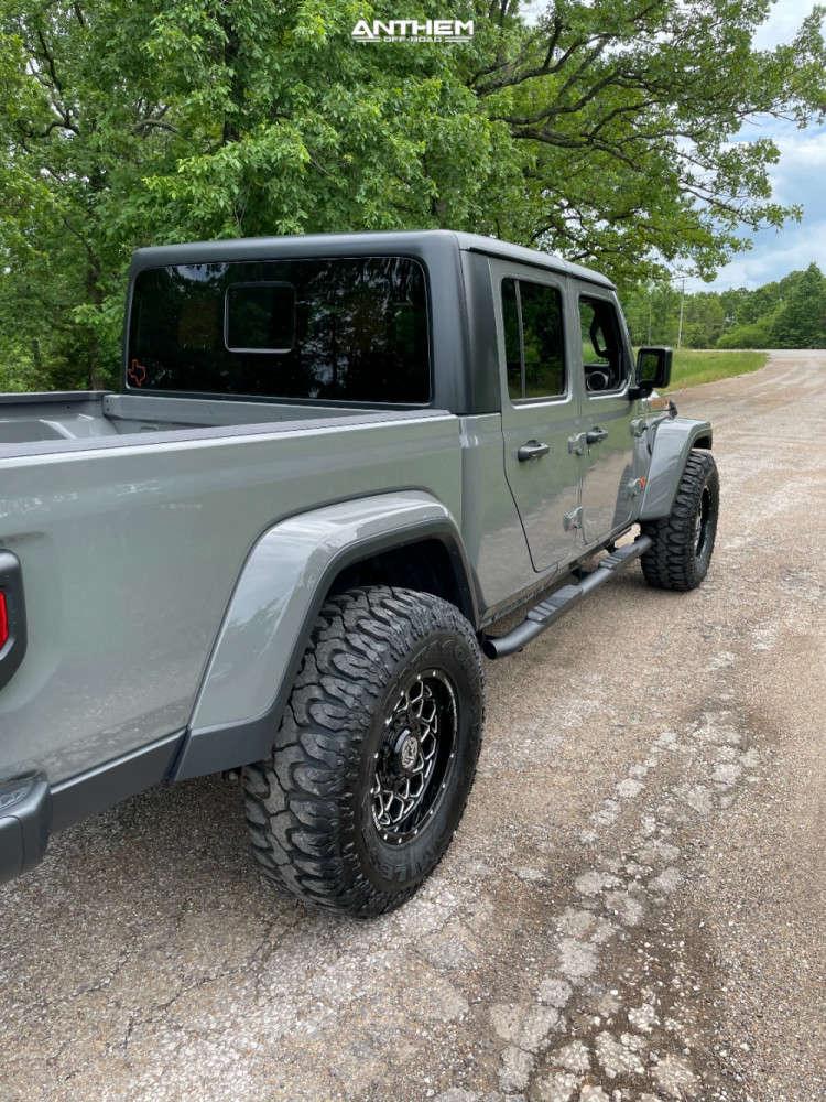 4 2021 Gladiator Jeep Sport Stock Air Suspension Anthem Off Road Avenger Machined Black