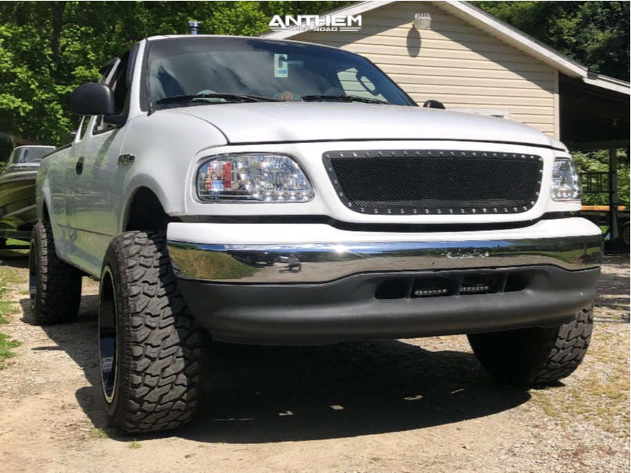 1 2003 F 150 Ford Rough Country Suspension Lift 3in Anthem Off Road Equalizer Black