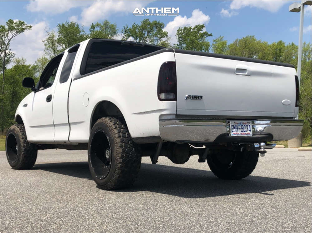 4 2003 F 150 Ford Rough Country Suspension Lift 3in Anthem Off Road Equalizer Black