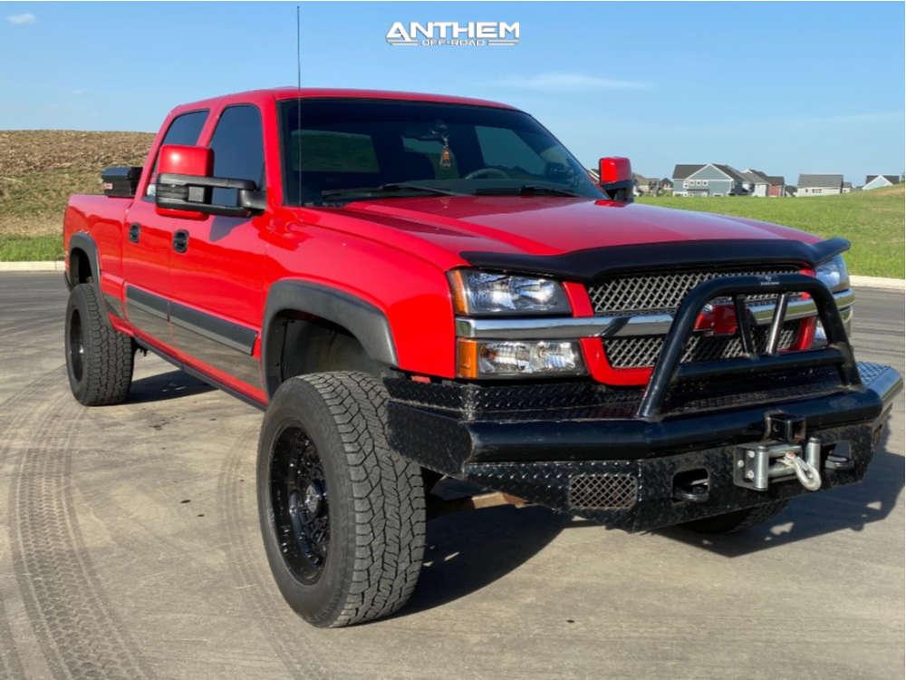 1 2003 Silverado 2500 Hd Chevrolet Tuff Country Suspension Lift 3in Anthem Off Road Viper Black
