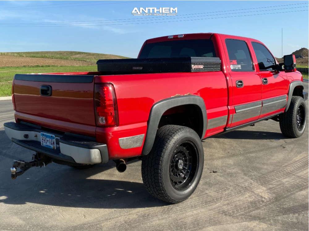 4 2003 Silverado 2500 Hd Chevrolet Tuff Country Suspension Lift 3in Anthem Off Road Viper Black