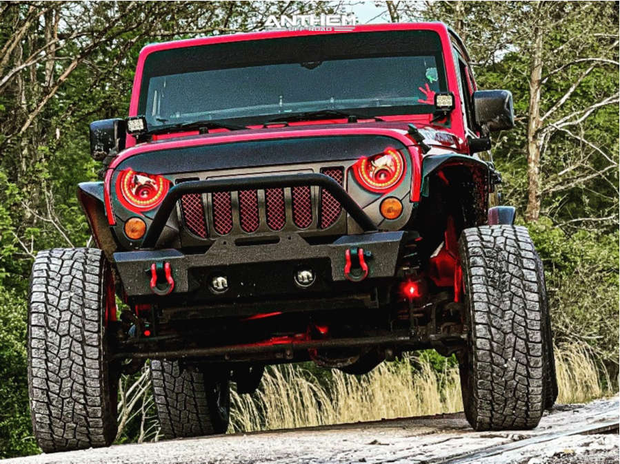 13 2011 Wrangler Jeep Unlimited Sport Rock Krawler Suspension Lift 25in Anthem Off Road Rogue Black