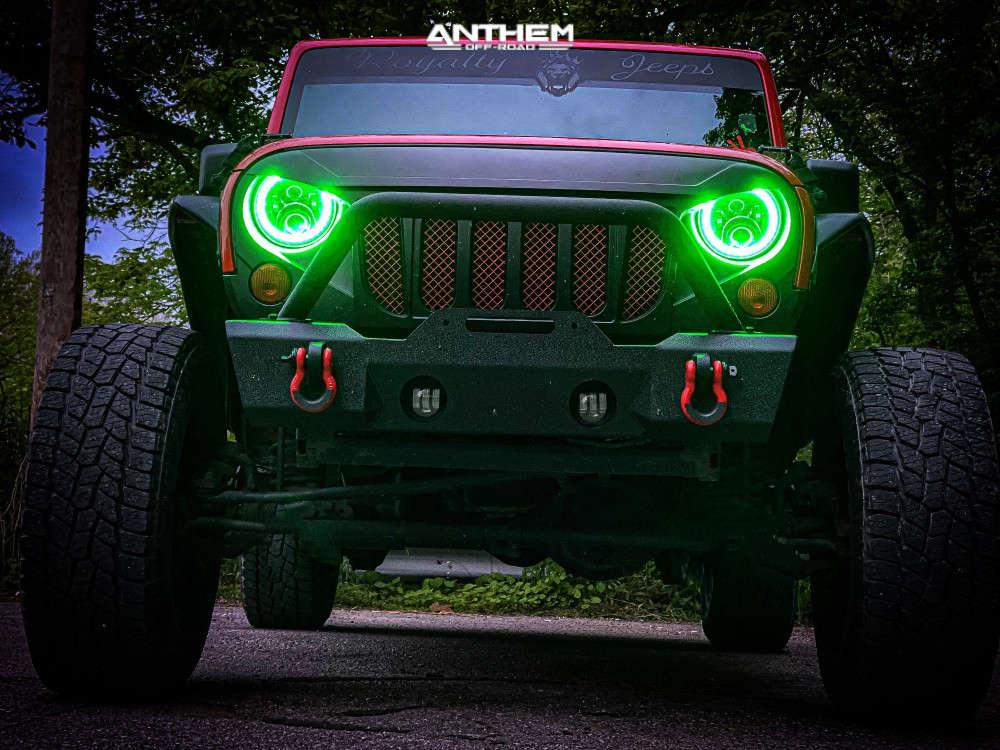 3 2011 Wrangler Jeep Unlimited Sport Rock Krawler Suspension Lift 25in Anthem Off Road Rogue Black