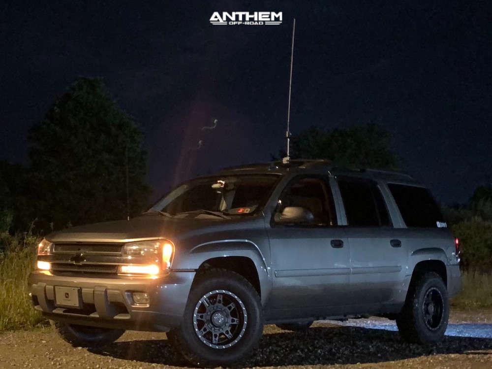 8 2006 Trailblazer Chevrolet Rough Country Leveling Kit Anthem Off Road Rogue Matte Black