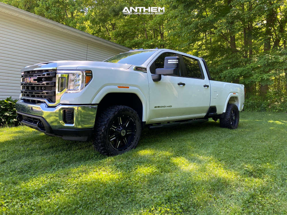 1 2021 Sierra 2500 Hd Gmc Stock Air Suspension Anthem Off Road Equalizer Machined Black