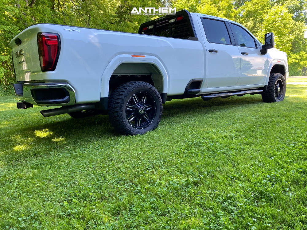 3 2021 Sierra 2500 Hd Gmc Stock Air Suspension Anthem Off Road Equalizer Machined Black