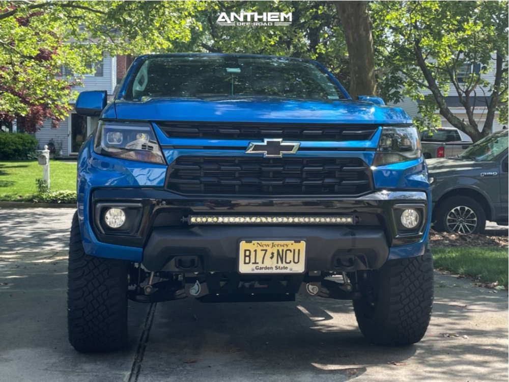2 2021 Colorado Chevrolet Rough Country Suspension Lift 4in Anthem Off Road Equalizer Black