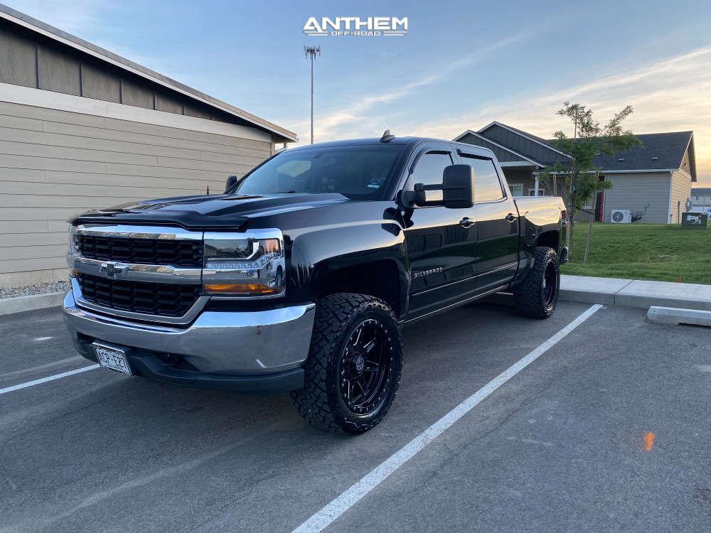 1 2017 Silverado 1500 Chevrolet Supreme Suspension Lift 25in Anthem Off Road Rogue Machined Black