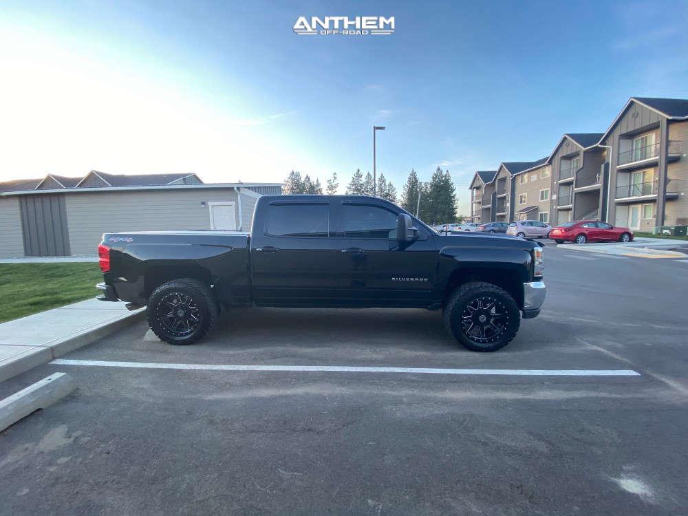 10 2017 Silverado 1500 Chevrolet Supreme Suspension Lift 25in Anthem Off Road Rogue Machined Black