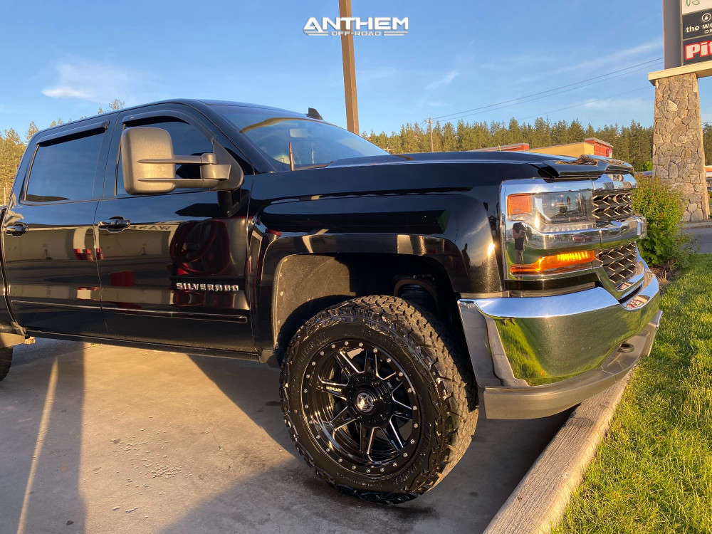 9 2017 Silverado 1500 Chevrolet Supreme Suspension Lift 25in Anthem Off Road Rogue Machined Black