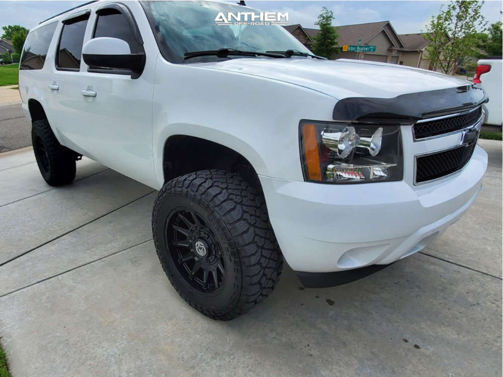 1 2013 Suburban Chevrolet Rough Country Suspension Lift 5in Anthem Off Road Liberty Matte Black