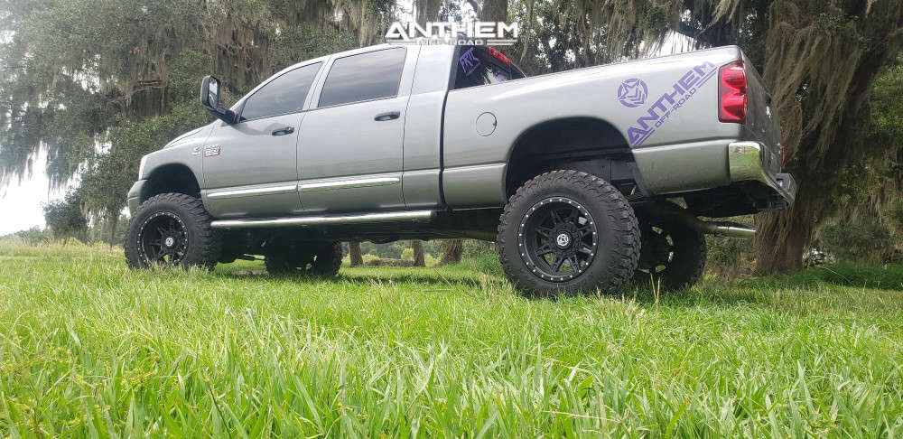 10 2008 Ram 2500 Dodge Rough Country Suspension Lift 6in Anthem Off Road Rogue Machined Black