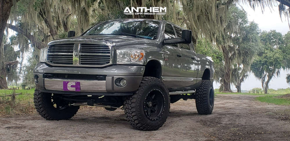 12 2008 Ram 2500 Dodge Rough Country Suspension Lift 6in Anthem Off Road Rogue Machined Black