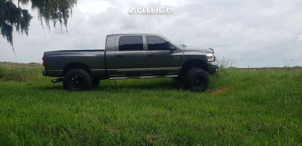 16 2008 Ram 2500 Dodge Rough Country Suspension Lift 6in Anthem Off Road Rogue Machined Black