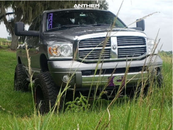 2 2008 Ram 2500 Dodge Rough Country Suspension Lift 6in Anthem Off Road Rogue Machined Black