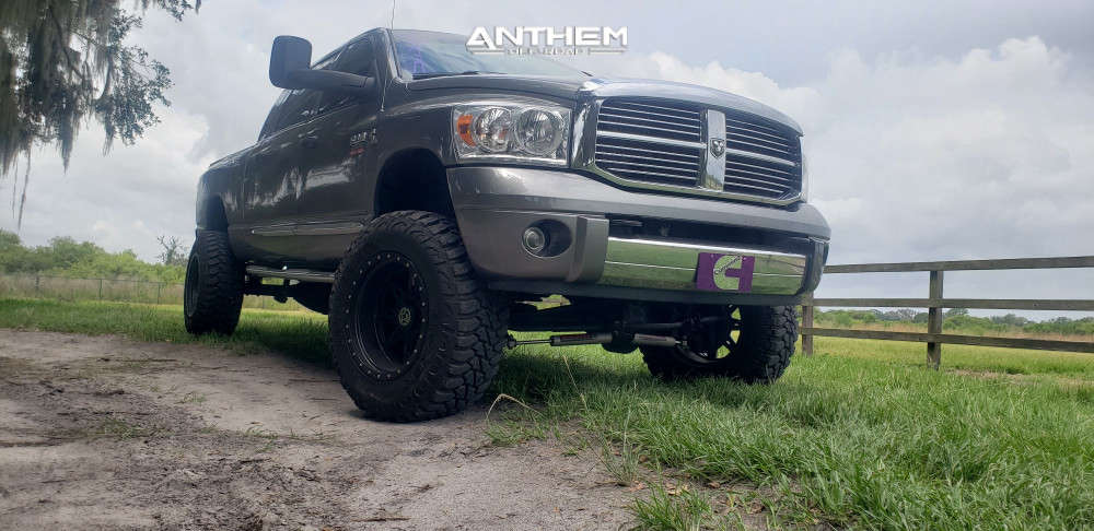 6 2008 Ram 2500 Dodge Rough Country Suspension Lift 6in Anthem Off Road Rogue Machined Black