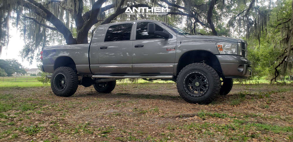 9 2008 Ram 2500 Dodge Rough Country Suspension Lift 6in Anthem Off Road Rogue Machined Black