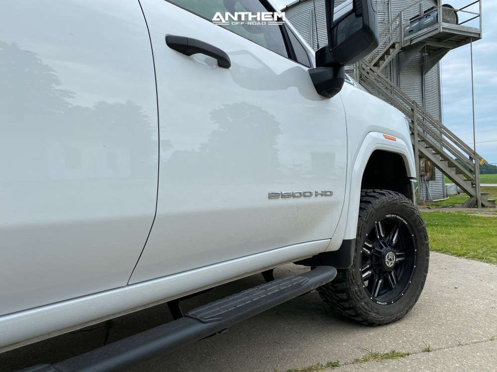 7 2021 Sierra 2500 Hd Gmc Stock Air Suspension Anthem Off Road Equalizer Machined Black
