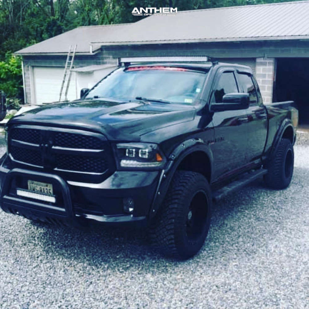 2 2018 1500 Ram Rough Country Suspension Lift 4in Anthem Off Road Instigator Machined Black