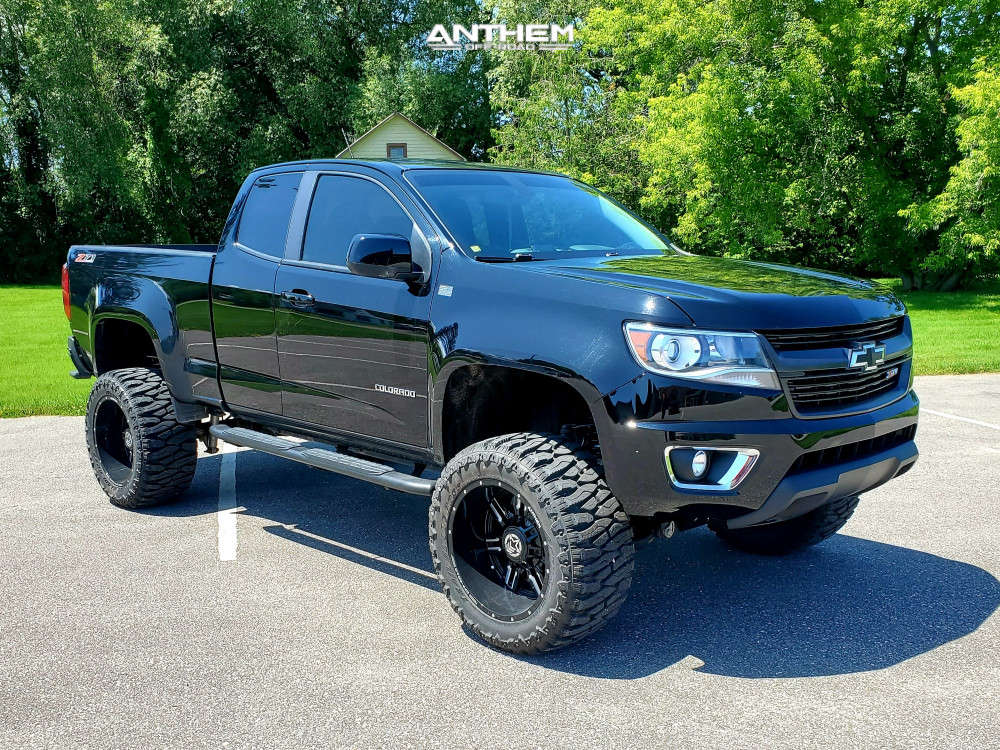 1 2018 Colorado Chevrolet Rough Country Suspension Lift 6in Anthem Off Road Equalizer Machined Black