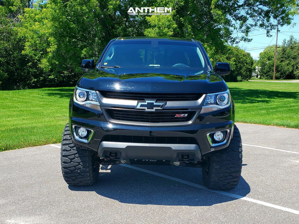 13 2018 Colorado Chevrolet Rough Country Suspension Lift 6in Anthem Off Road Equalizer Machined Black