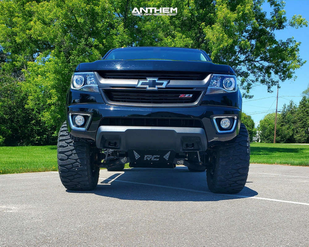 2 2018 Colorado Chevrolet Rough Country Suspension Lift 6in Anthem Off Road Equalizer Machined Black