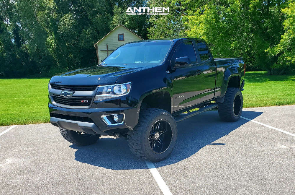12 2018 Colorado Chevrolet Rough Country Suspension Lift 6in Anthem Off Road Equalizer Machined Black