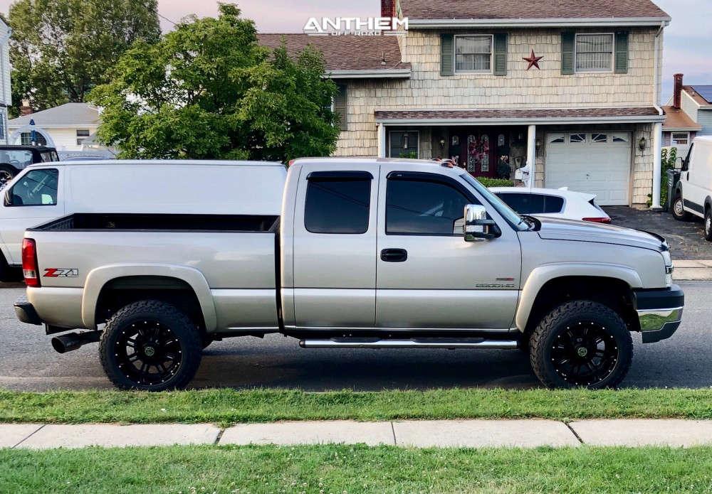 5 2004 Silverado 2500 Hd Chevrolet 2 Inch Level Stock Anthem Off Road Instigator Black