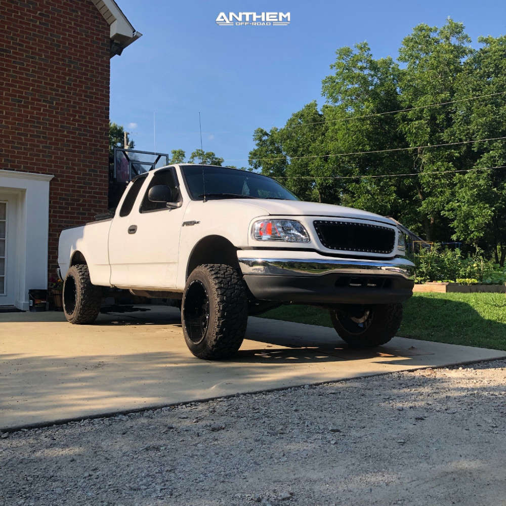 2 2003 F 150 Ford Rough Country Suspension Lift 5in Anthem Off Road Equalizer Machined Black