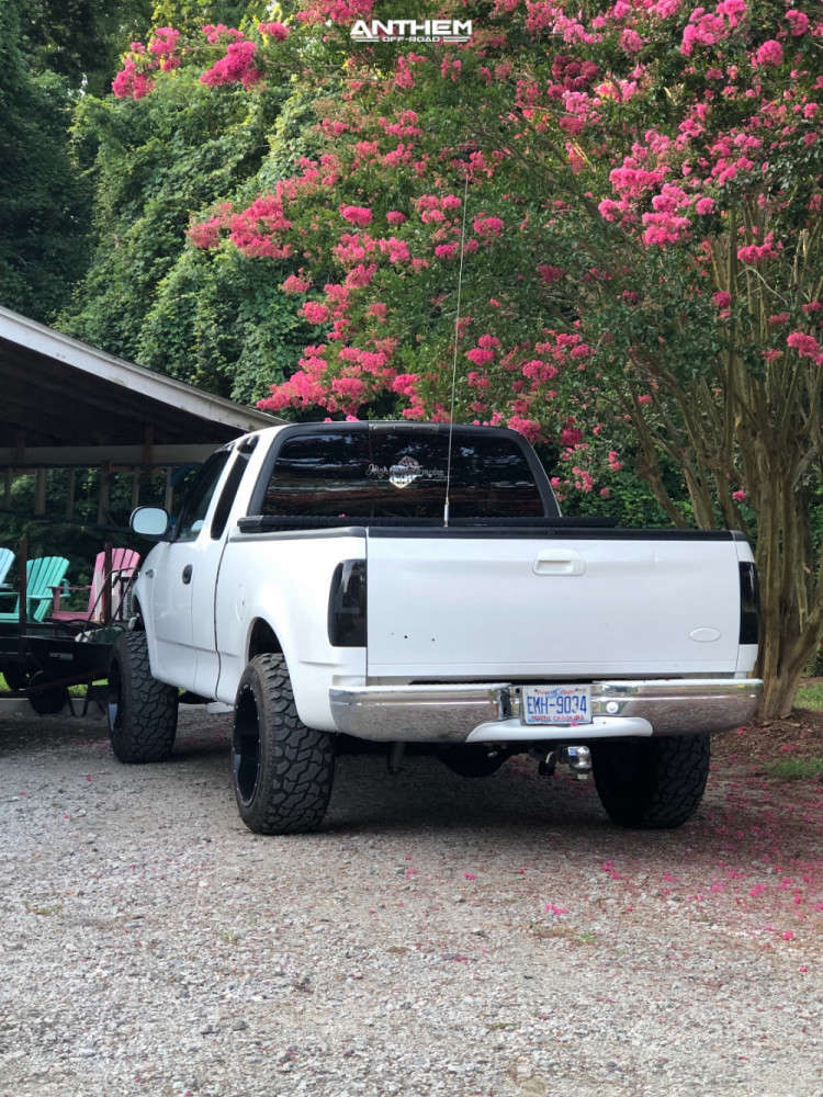 4 2003 F 150 Ford Rough Country Suspension Lift 5in Anthem Off Road Equalizer Machined Black