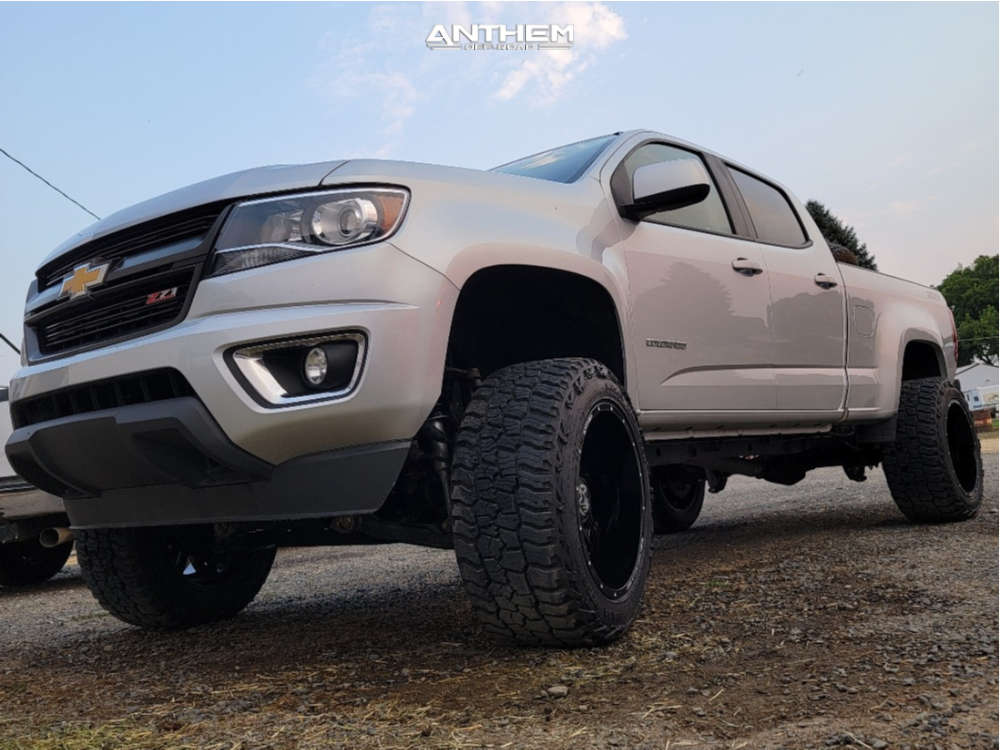 1 2015 Colorado Chevrolet Rough Country Suspension Lift 6in Anthem Off Road Equalizer Black