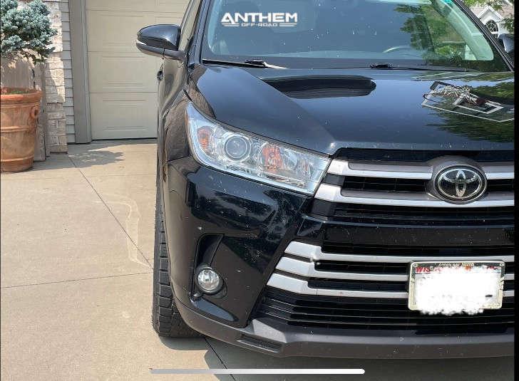 2 2018 Highlander Toyota Stock Air Suspension Anthem Off Road Avenger Black