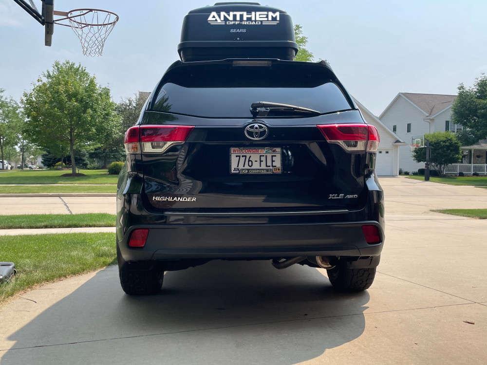 3 2018 Highlander Toyota Stock Air Suspension Anthem Off Road Avenger Black