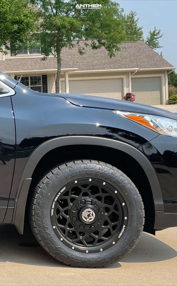 8 2018 Highlander Toyota Stock Air Suspension Anthem Off Road Avenger Black