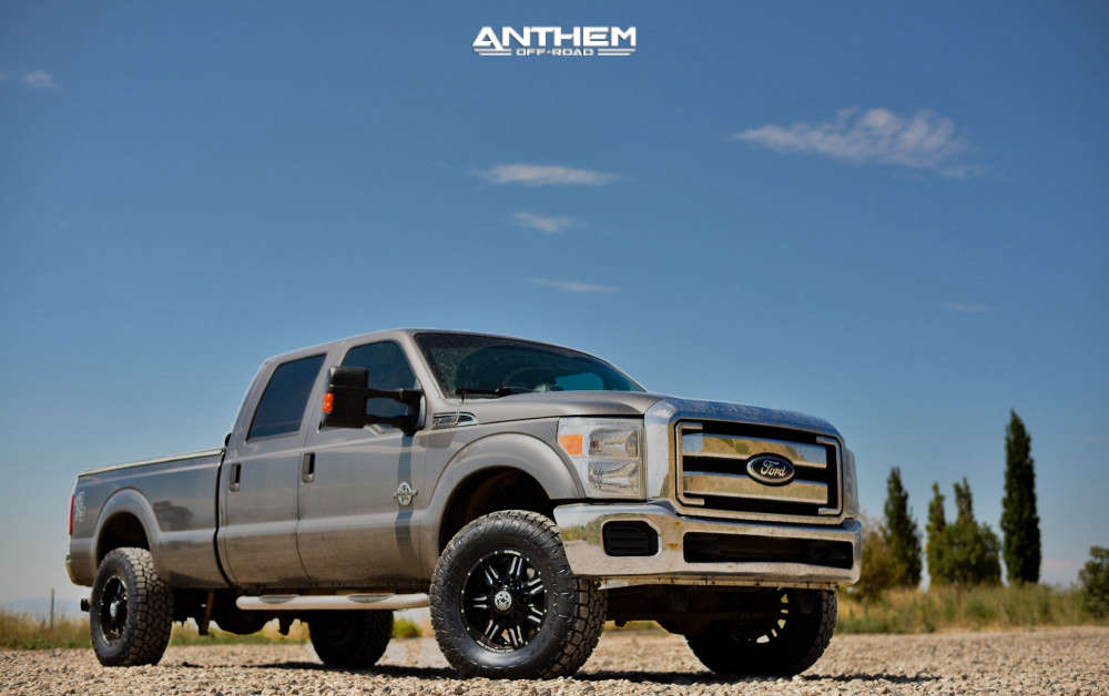 1 2012 F 350 Super Duty Ford Stock Air Suspension Anthem Off Road Equalizer Machined Black
