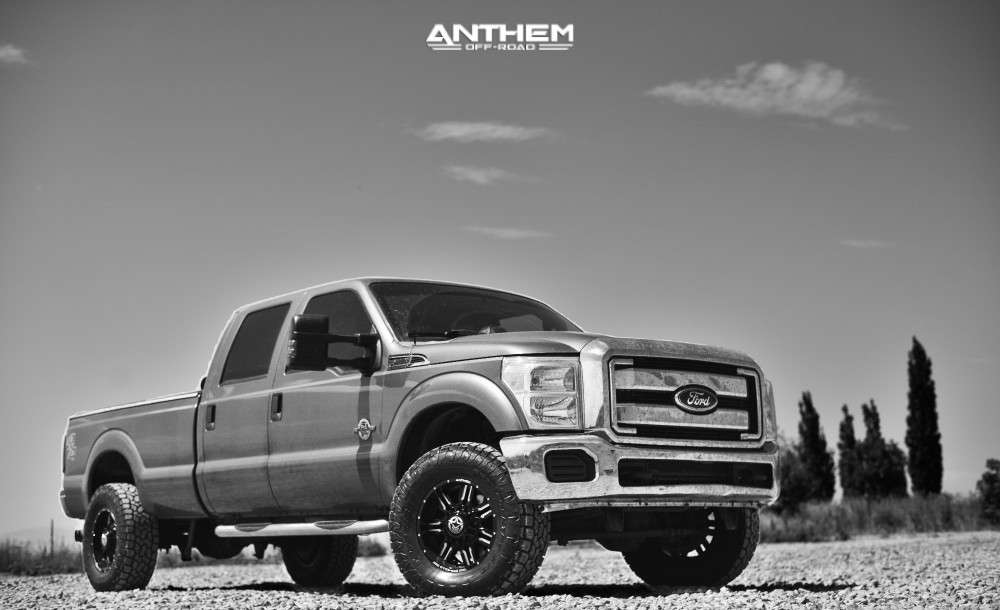 12 2012 F 350 Super Duty Ford Stock Air Suspension Anthem Off Road Equalizer Machined Black