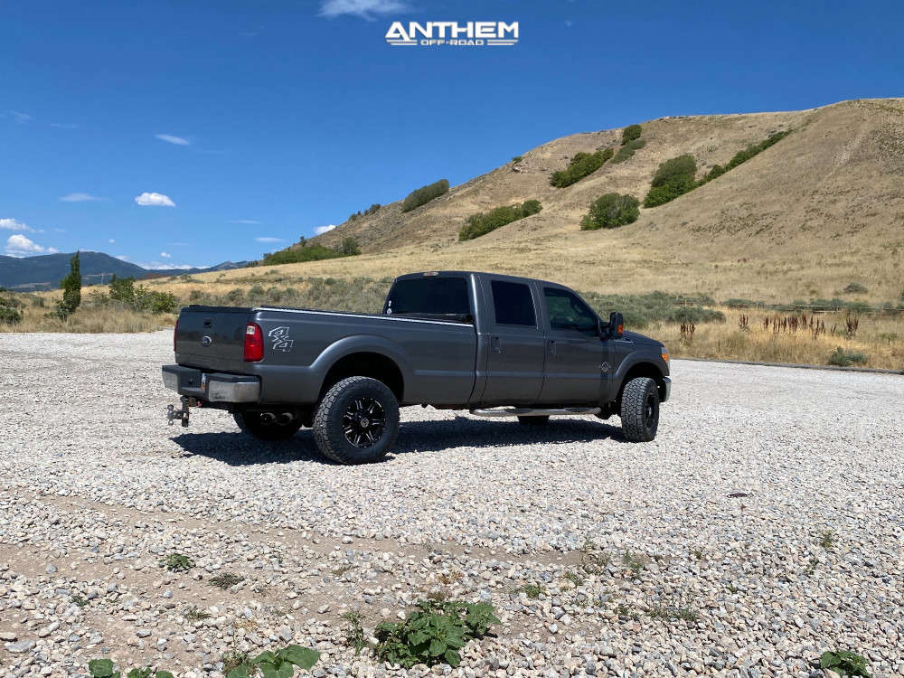 4 2012 F 350 Super Duty Ford Stock Air Suspension Anthem Off Road Equalizer Machined Black